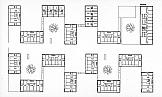 Wohnüberbauung Schäfereiareal<br />Zollikofen 1993<br />Wettbewerb Städtebau